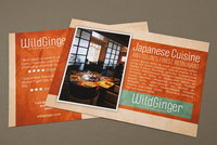 Japanese Restaurant Postcard Template