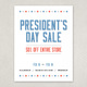Classic Patriotic Sale Flyer Template