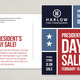 Color Block Sale Postcard Template