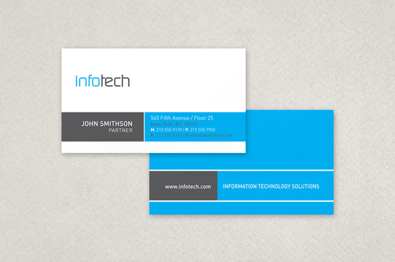 Information technology business card template inkd information technology business card template flashek Images