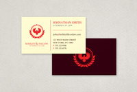 Professional Law Firm Business Card Template