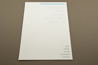 Blue Medical Center Letterhead Template