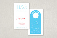 Minimalist Bed & Breakfast Businesss Card Template