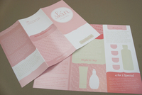 Pink Skin Care Brochure Template