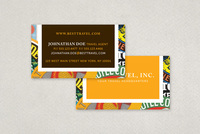 Travel Agency Business Card with Stamp Motif Template