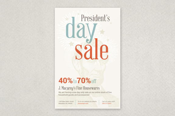 President's Day Sale Flyer Template