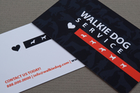 Dog-Walking Service Business Card Template