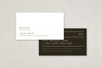 Upscale Restaurant and Bar Business Card  Template