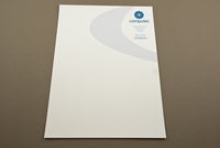 Blue IT Consulting Letterhead Template