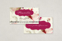 Trendy Flower Shop Business Card Template