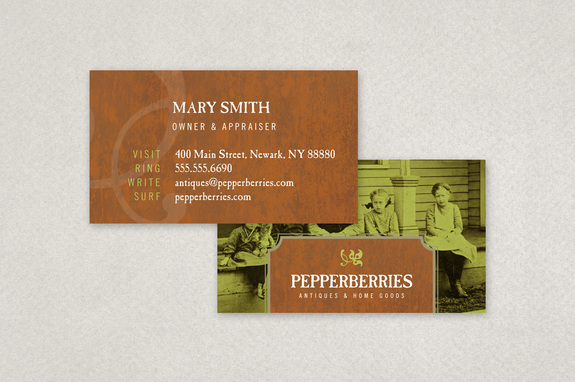 Adobe indesign templates ready to edit and print inkd antique shop business card template fbccfo Image collections