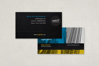 General Blue and Yellow Business Card Template