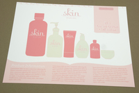 Pink Skin Care Flyer Template