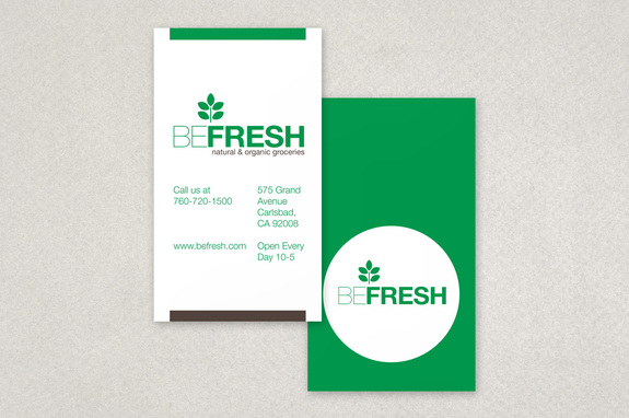Organic Health Food Market Business Card Template Inkd