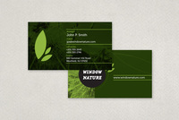 Natural Cosmetics Business Card Template