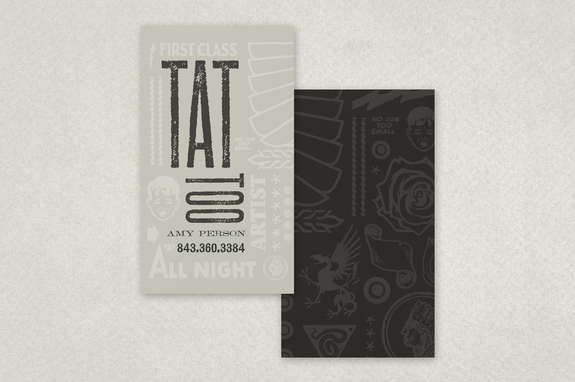 Tattoo Shop Business Card Template Inkd - Tattoo business card templates