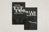 Distressed Type Tattoo Business Card Template