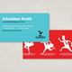 Graphic Business Coach Business Card Template