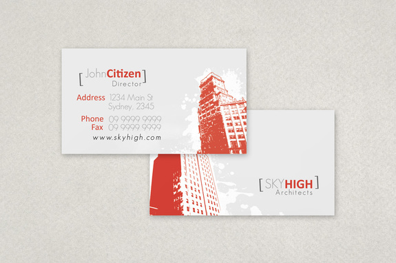 Modern architecture firm business card template inkd modern architecture firm business card template reheart Image collections