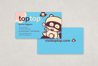 Cute Kids Apparel Business Card Template