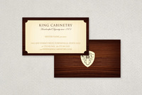Elegant Cabinetry Business Card  Template