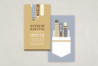 Retro Pen Pocket Business Card Template