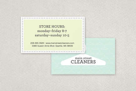 Dry cleaners business card template inkd for Dry cleaners business cards