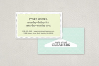 Dry Cleaners Business Card Template