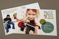Music and Children Postcard  Template