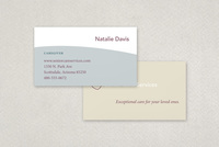 Senior Care Business Card Template