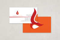 Flame Elements Business Card Template