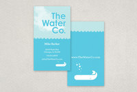 Illustrative Water Utilities Business Card Template