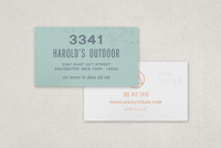 Sports & Outdoor Store Business Card Template