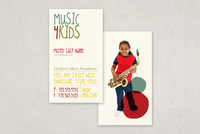 Children's Music Business Card Template
