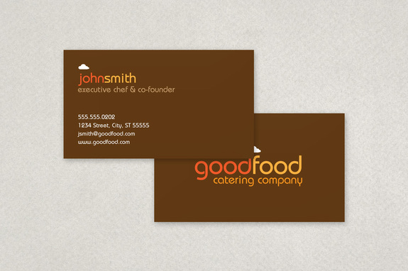 Catering company business card template inkd catering company business card template reheart Choice Image