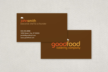 Catering Company Business Card Template Inkd