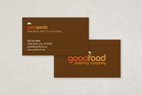 Catering Company Business Card Template