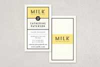 Yellow Custom Skin Care Business Card Template