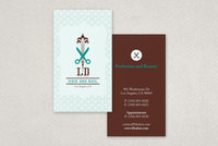 Hair and Nail Salon Business Card  Template