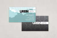 Contemporary Urban Lofts Business Card Template