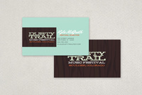 Music Festival Business Card Template