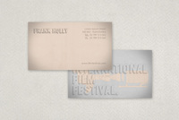 Classic Film Festival Business Card Template