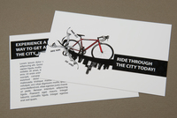 Bike Rental Postcard Template