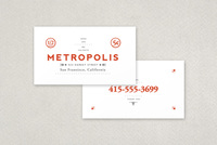 Restaurant and Bar Business Card Template