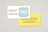 Retro Craft Fair Business Card Template