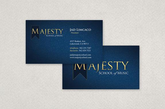 Music School Business Card Template