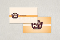 Retro Food Market Business Card Template