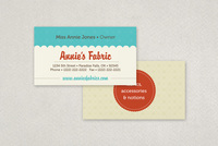 Fabric Shop Business Card Template