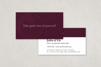 Peaceful Spa & Recreation Center Business Card Template