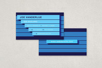 Blue Bar Technology Business Card Template